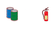 ドラム缶・消火器回収