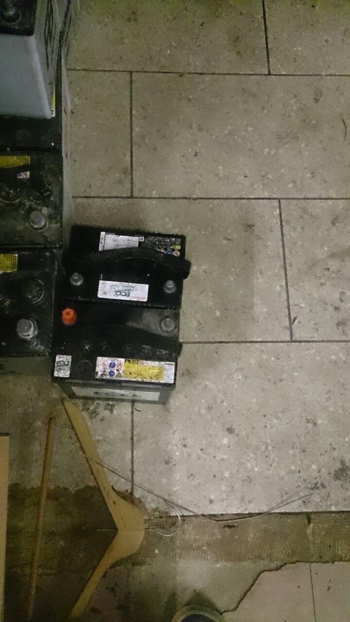 少量回収したバッテリー