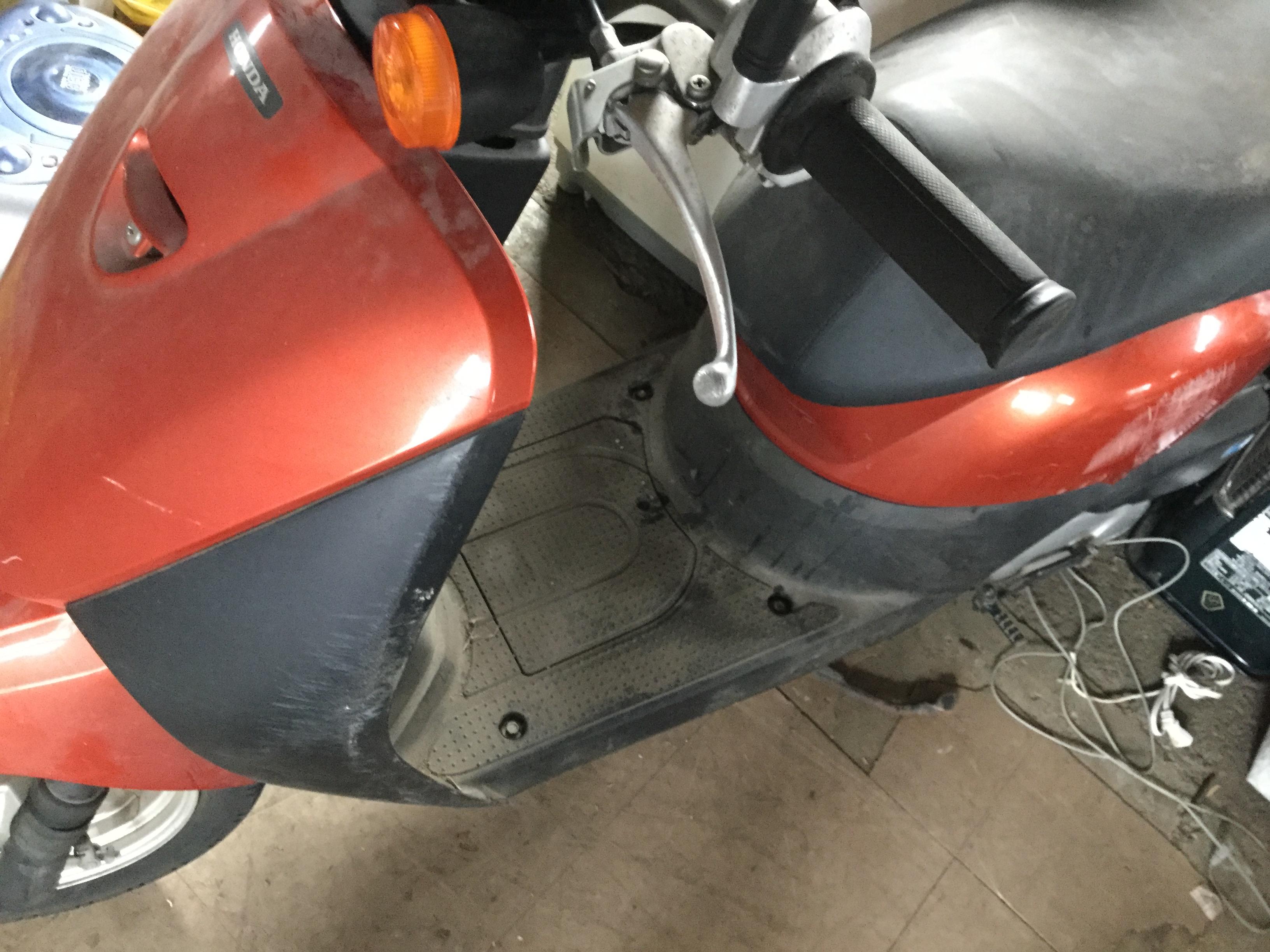岡山市北区で回収したバイク