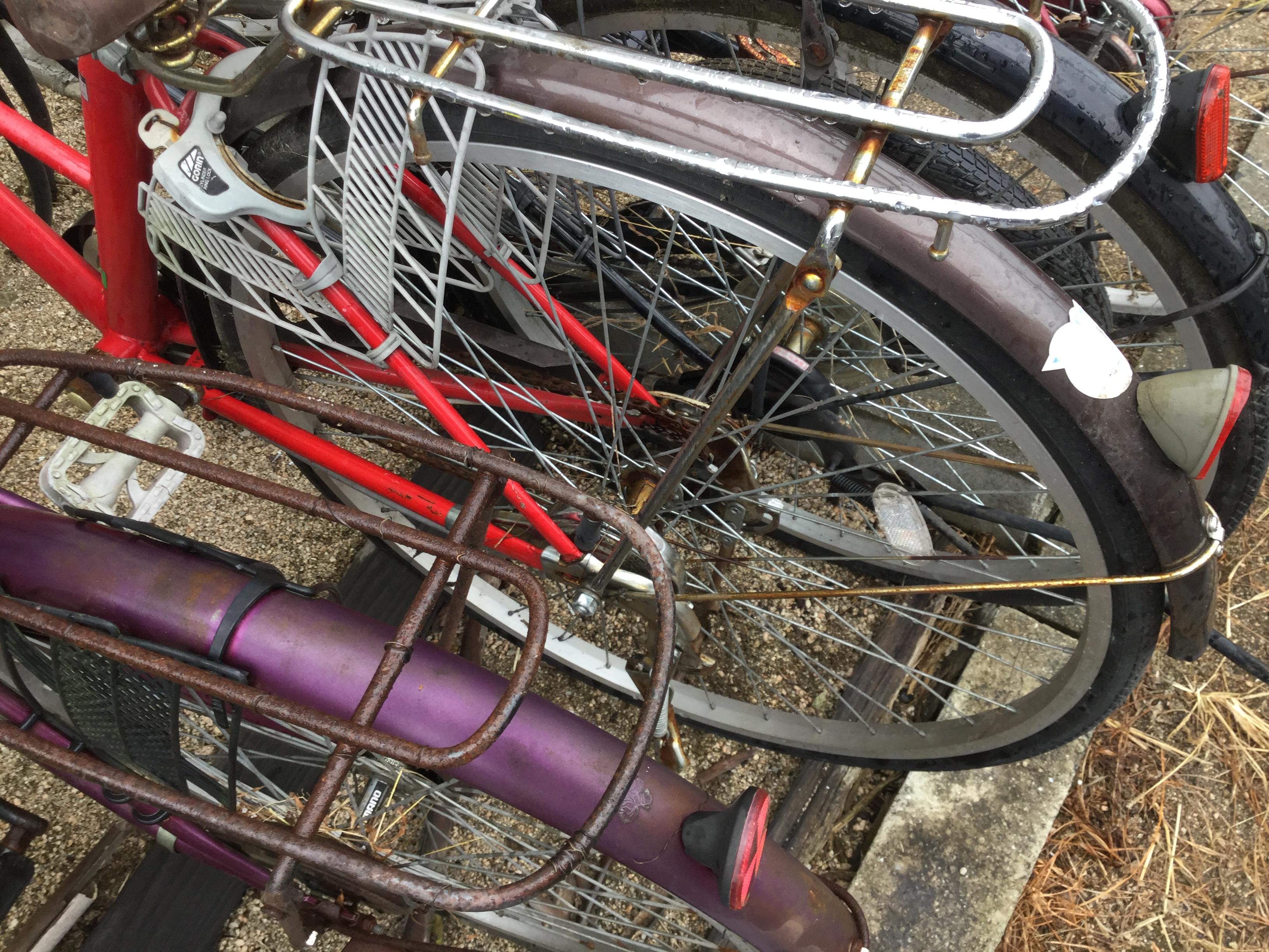 岡山市東区で自転車処分