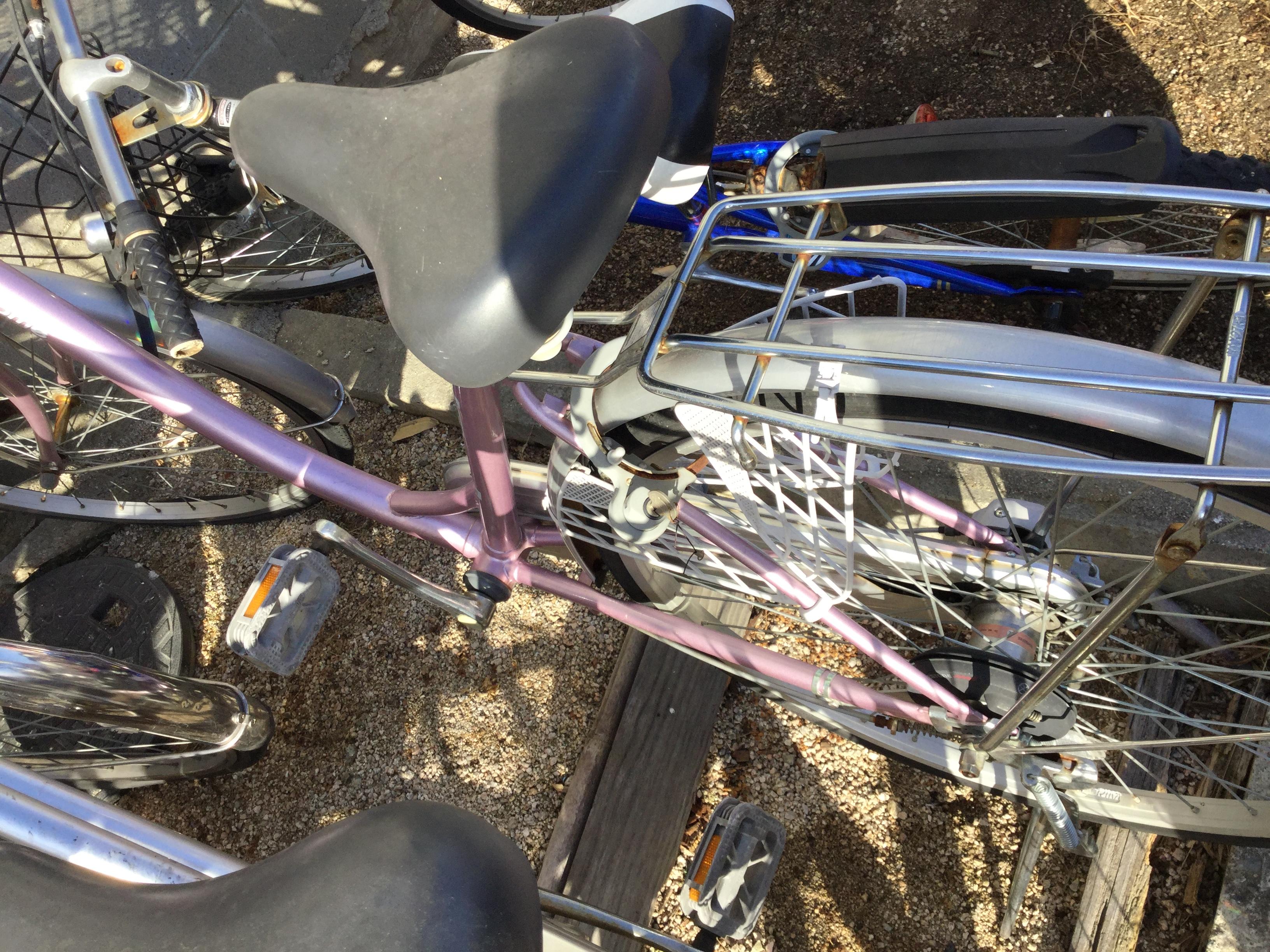 岡山市北区で不用品回収した自転車