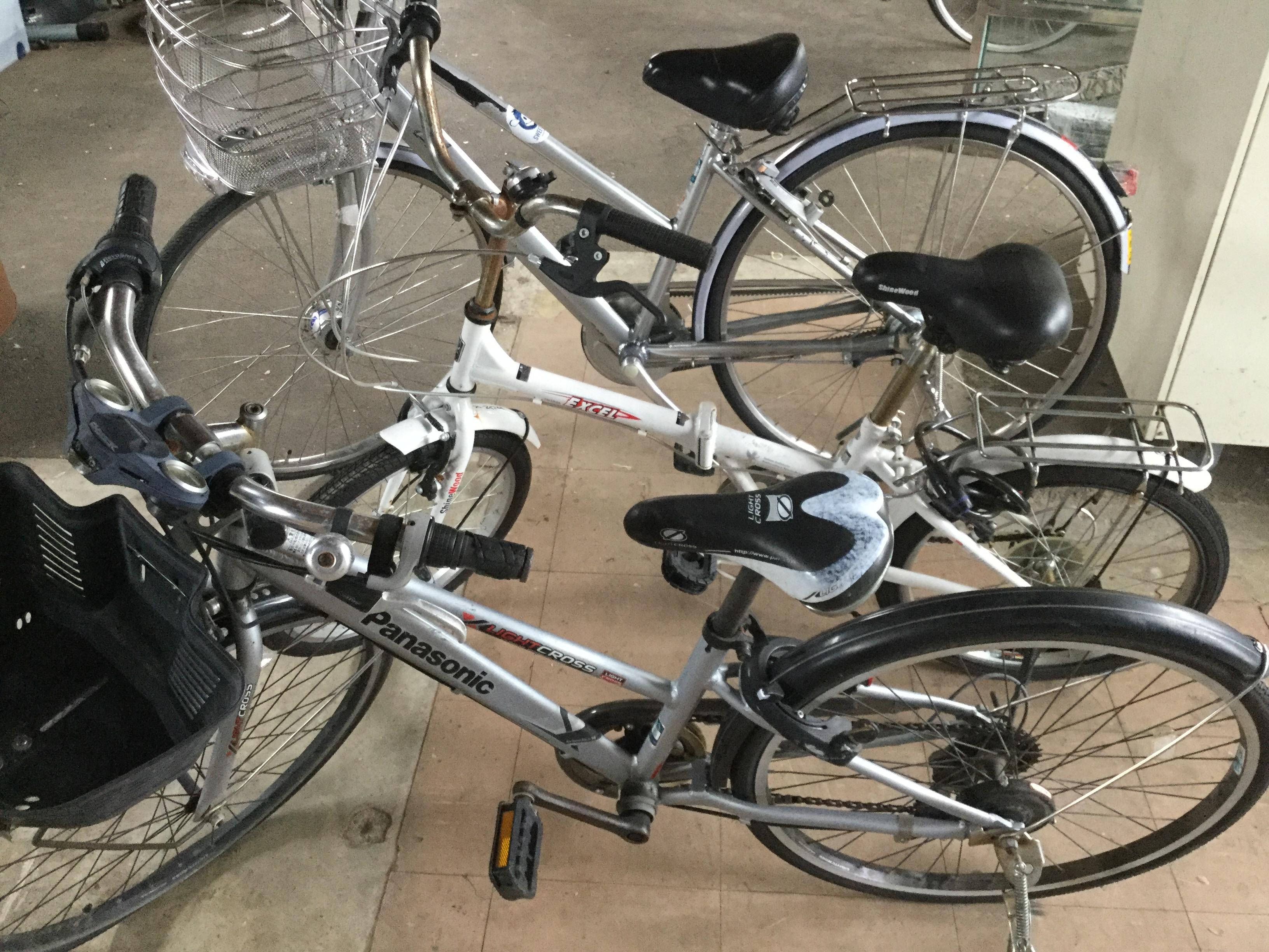 岡山市南区で不用品回収した自転車