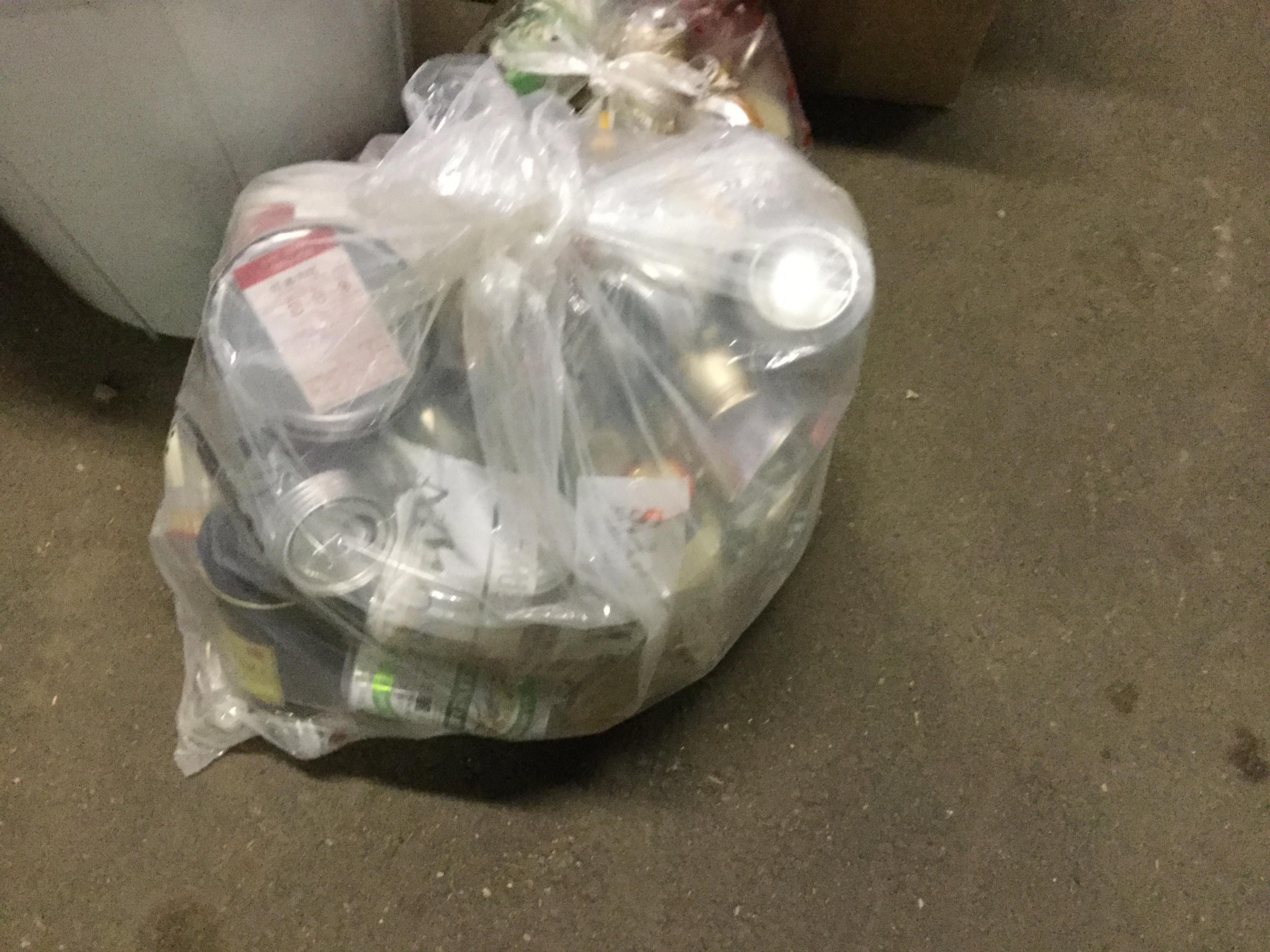 岡山市南区で不用品回収したアルミ缶