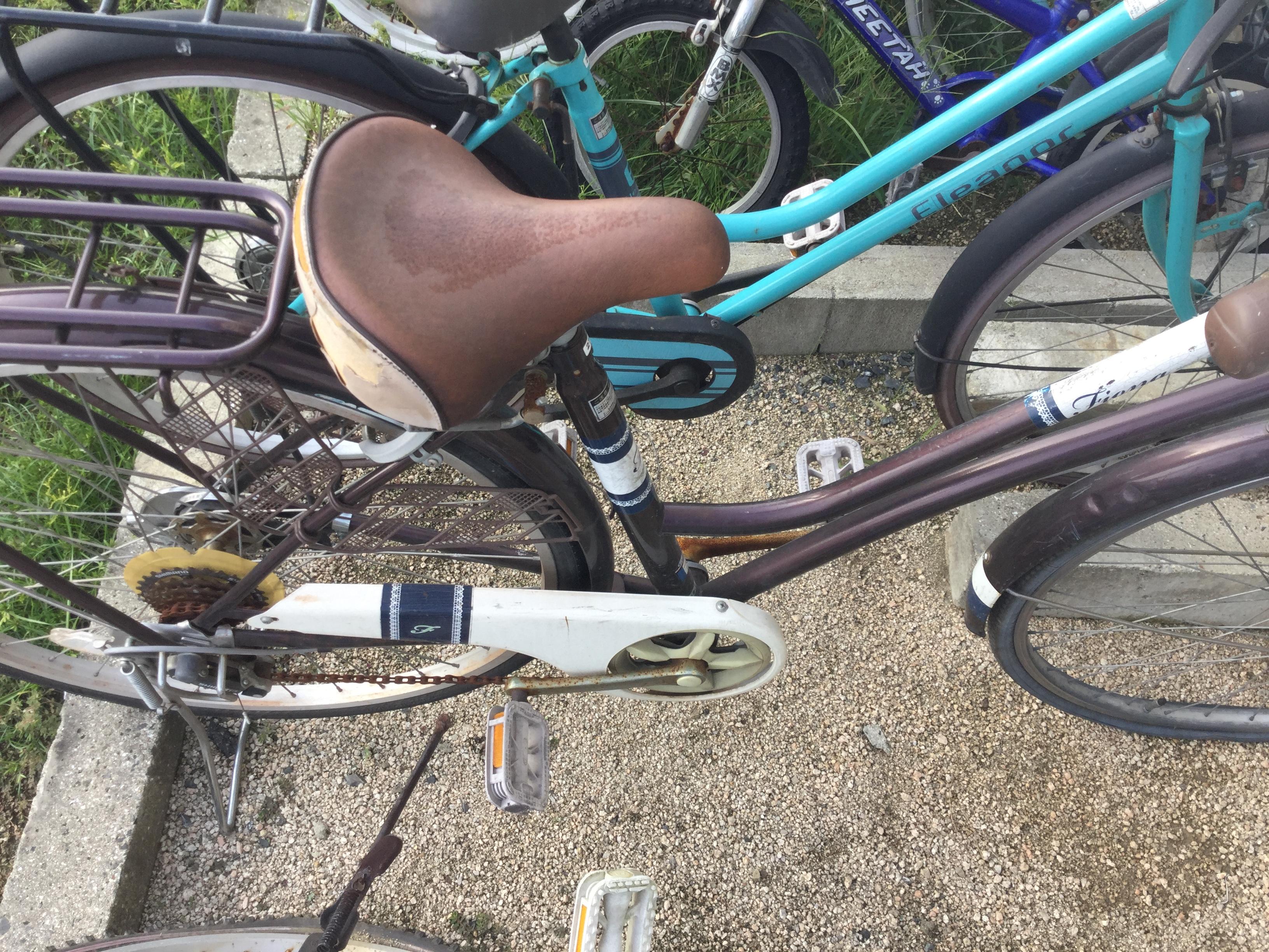 岡山市北区で粗大ゴミの回収をした自転車