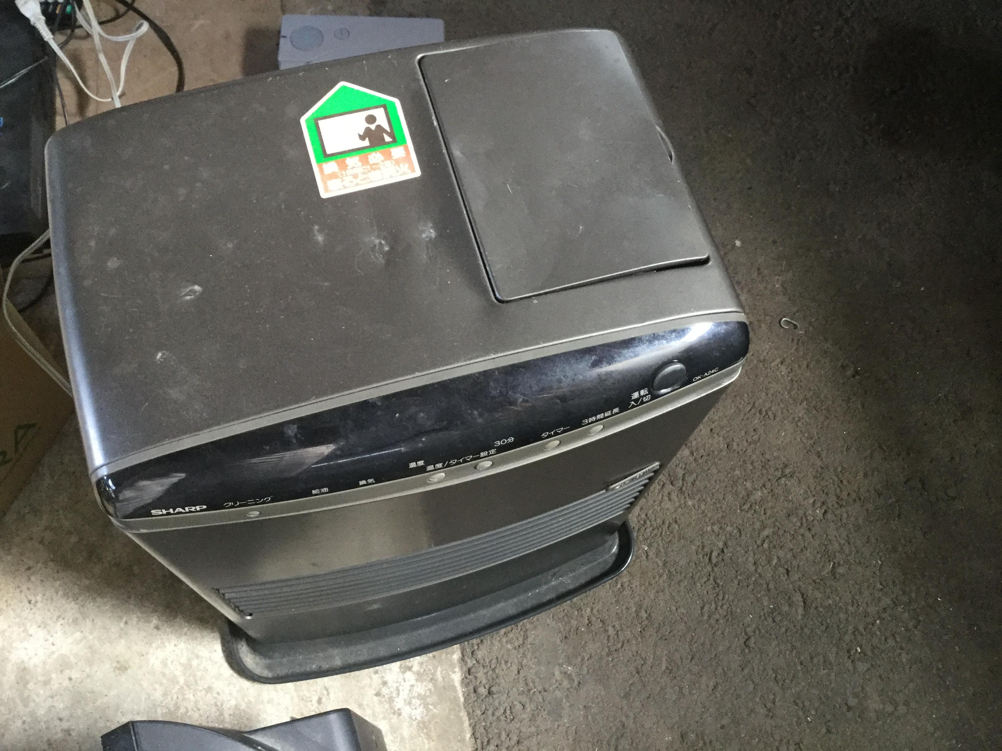 玉野市で不用品回収したファンヒーター