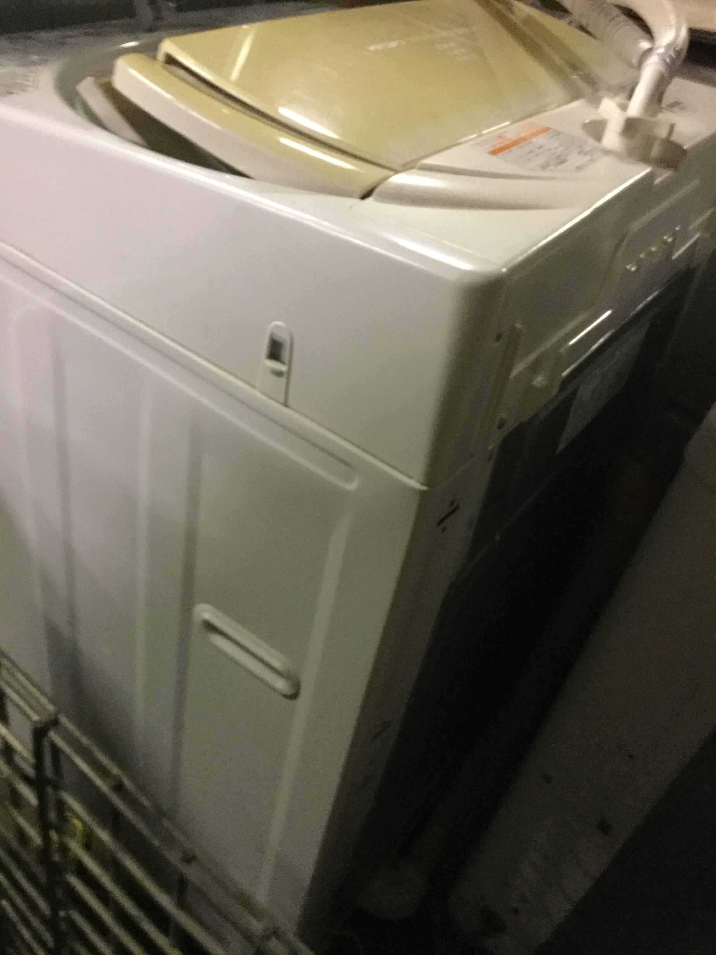 岡山市東区で粗大ゴミの回収した洗濯機