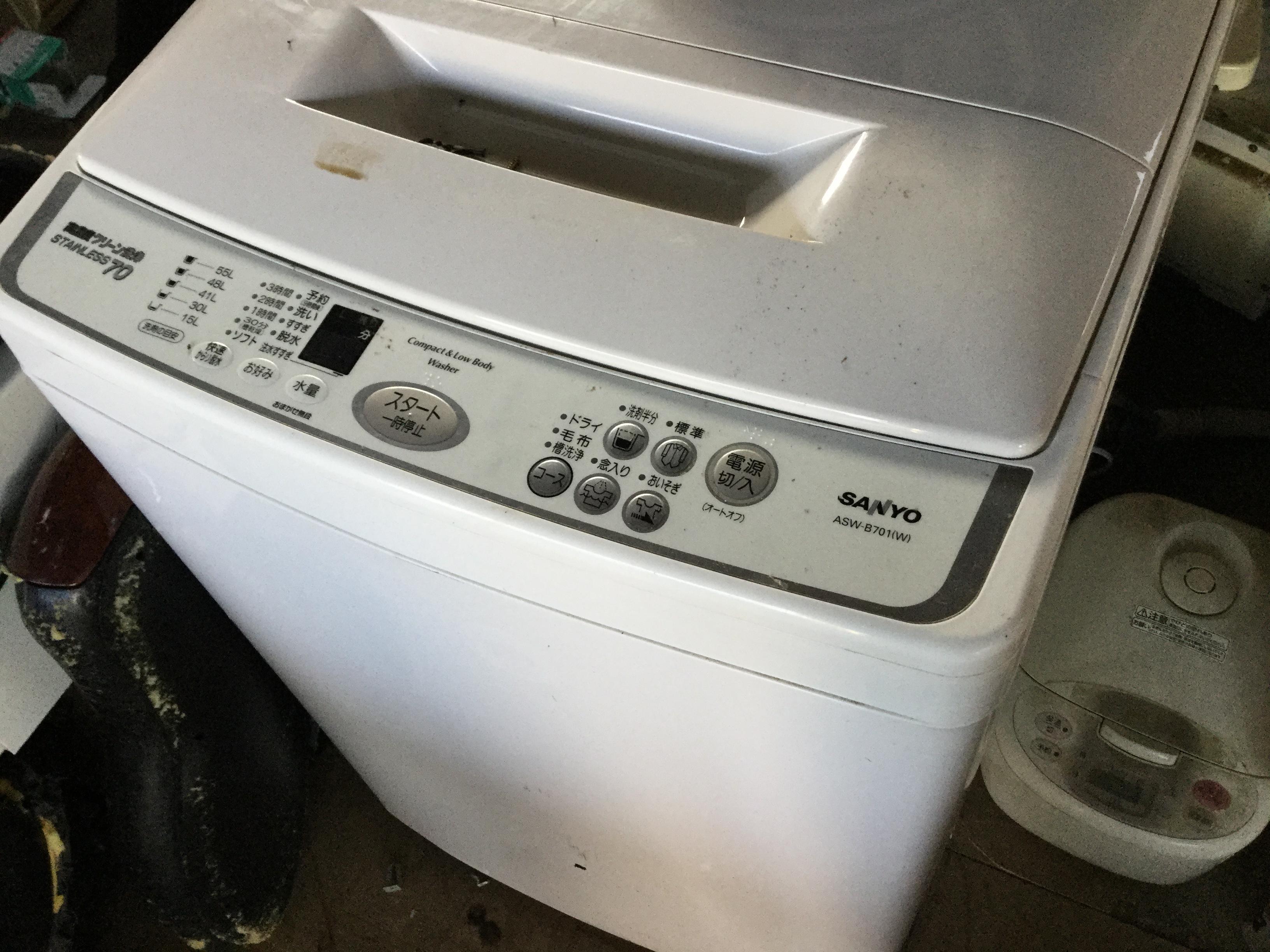 岡山市南区で不用品回収した洗濯機