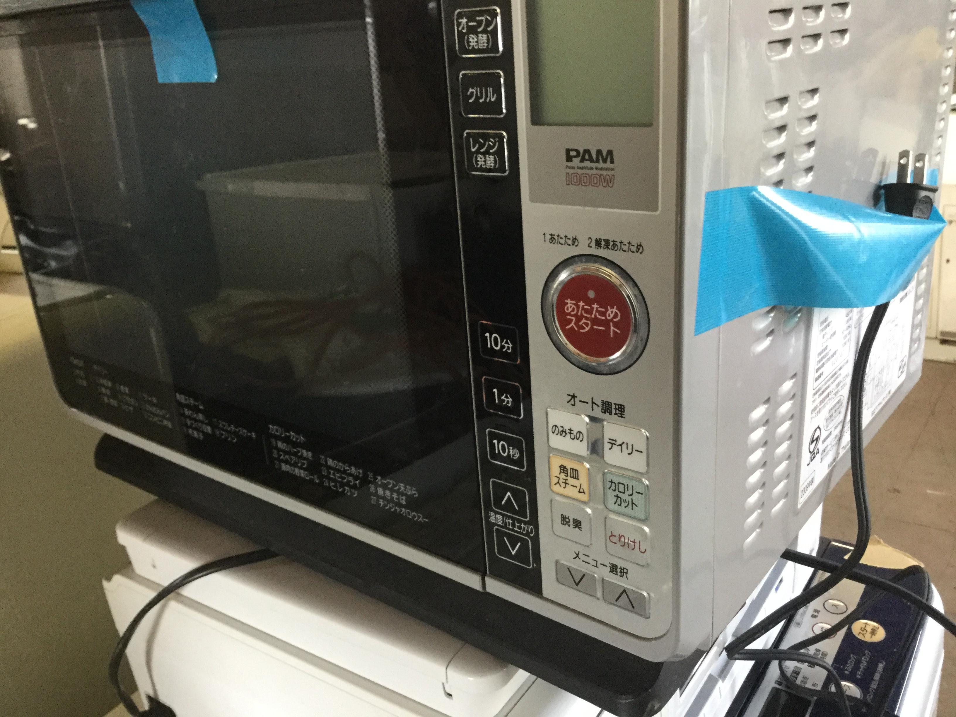 岡山市で不用品回収・処分した電子レンジ
