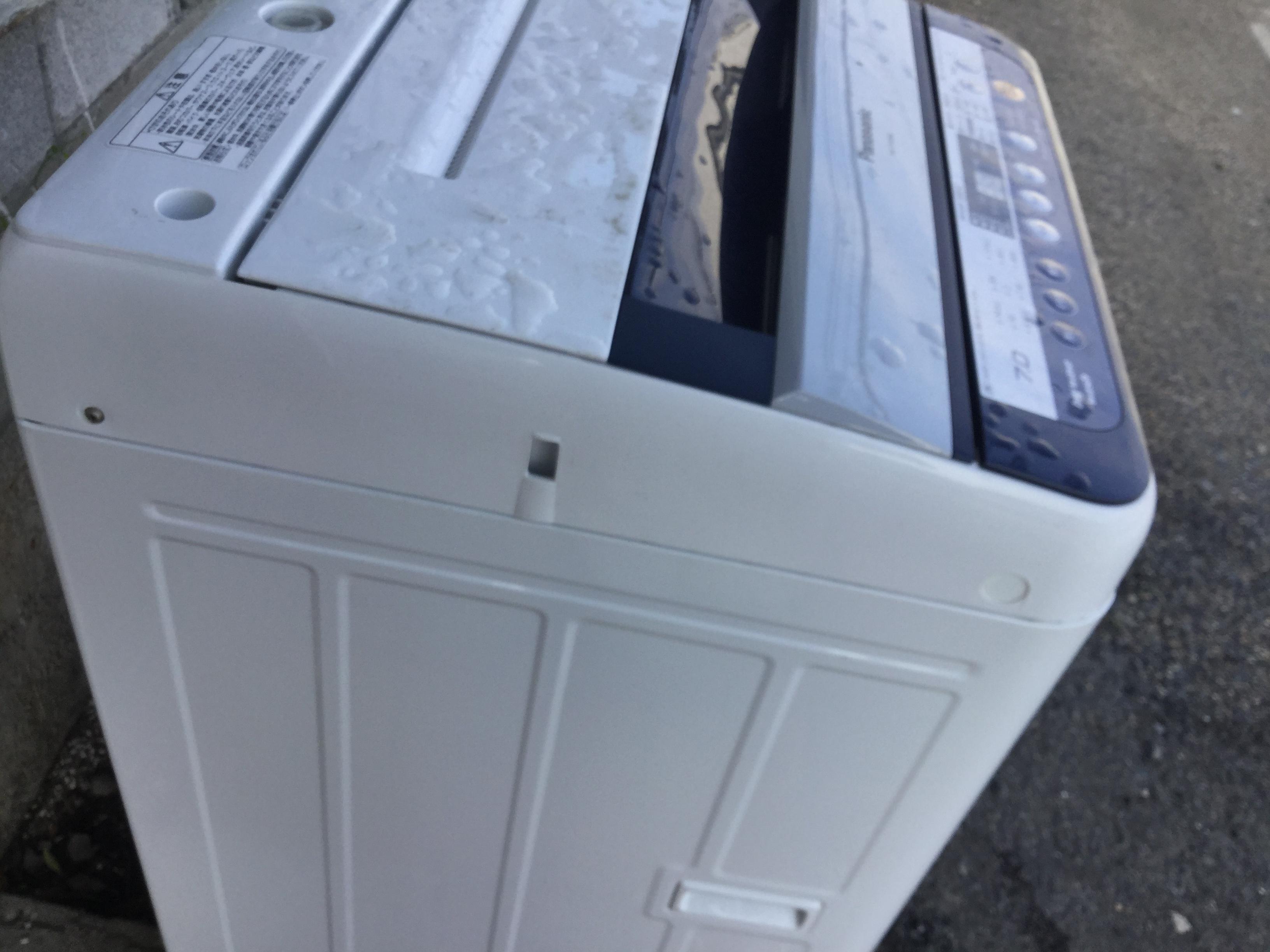 岡山市北区で不用品回収・処分した洗濯機