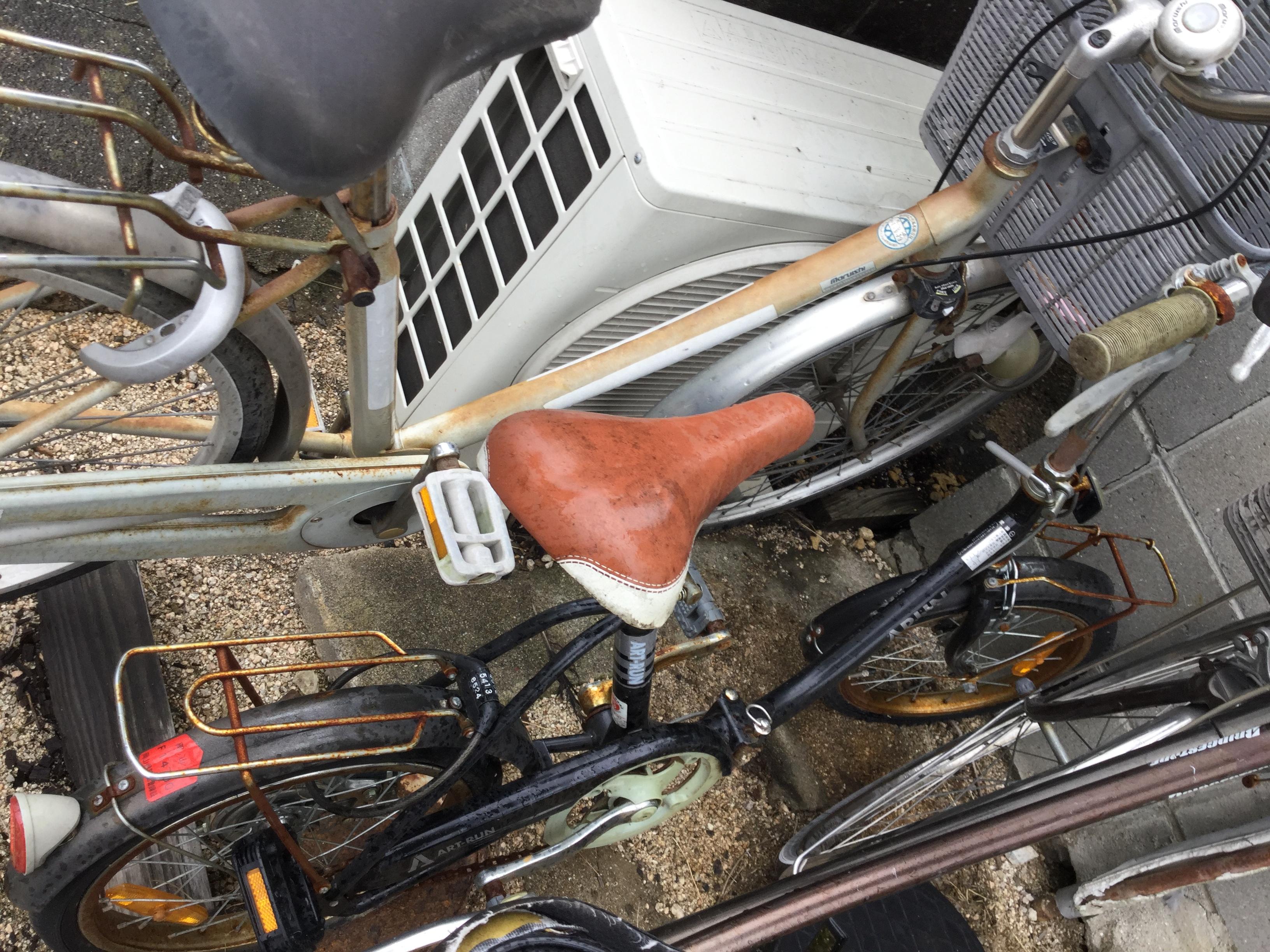 岡山市北区で不用品の回収・処分した自転車