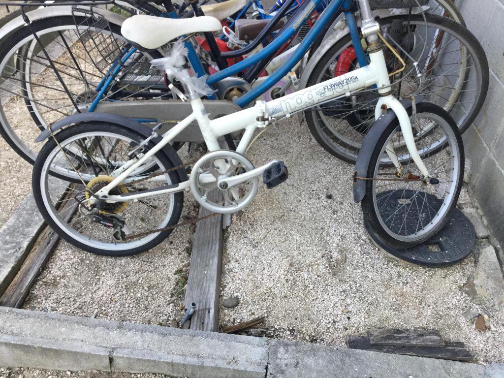 岡山市北区伊福町で回収した自転車です。
