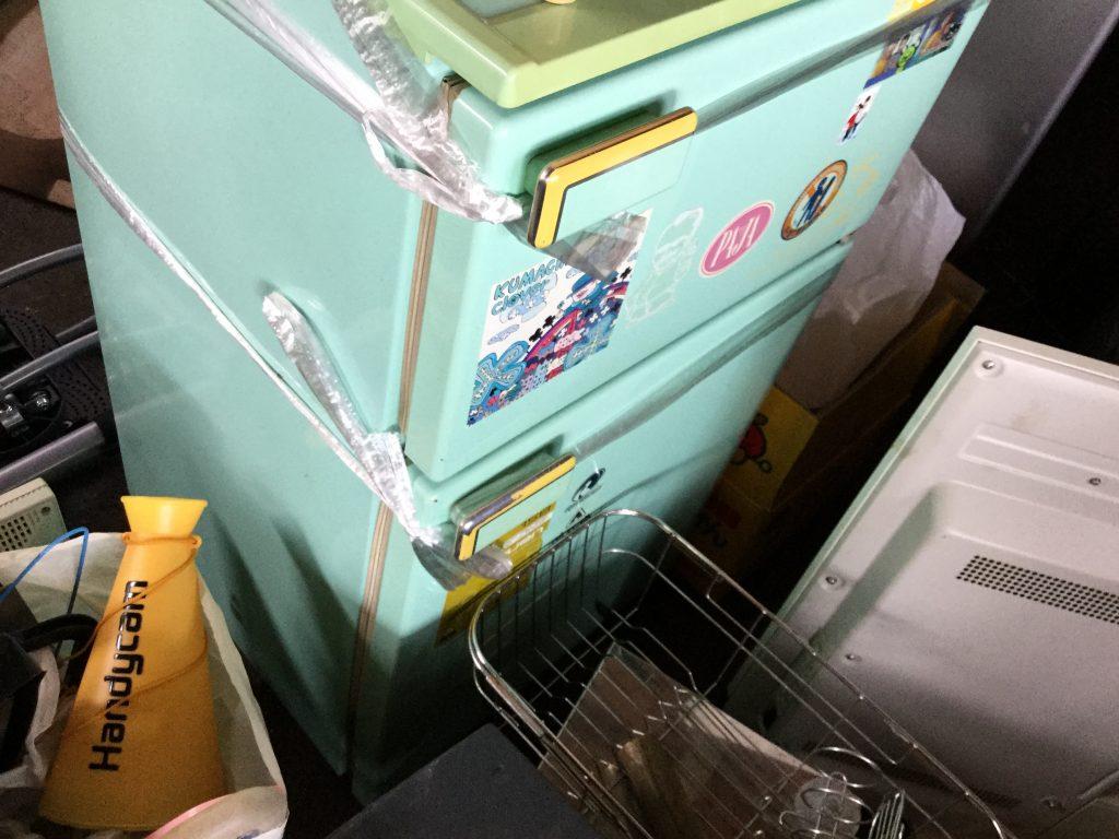 岡山市北区津高付近で回収した冷蔵庫です。