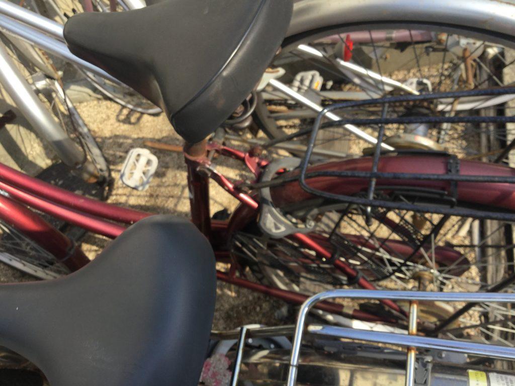 岡山市北区津高付近で回収した自転車です。