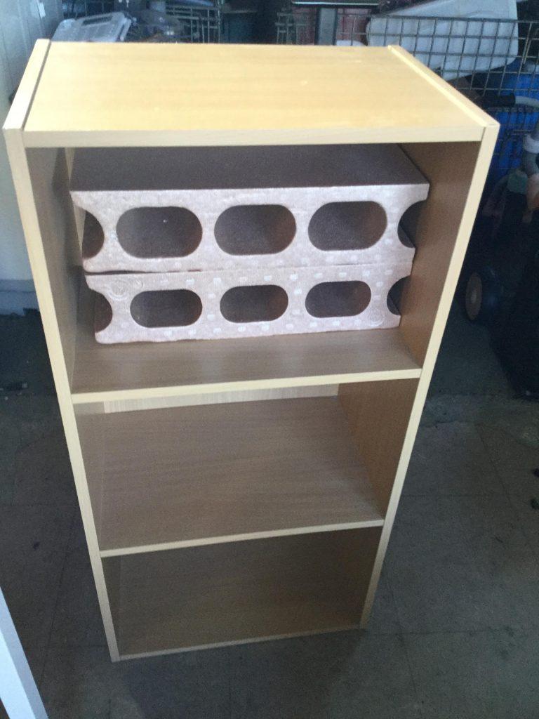 三段ボックスとブロックです。