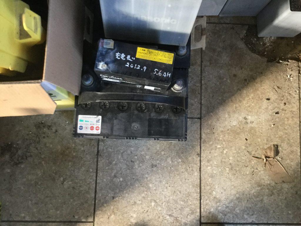 岡山市東区松新町付近で回収したバッテリーです。