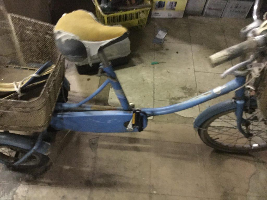 三輪車自転車です。