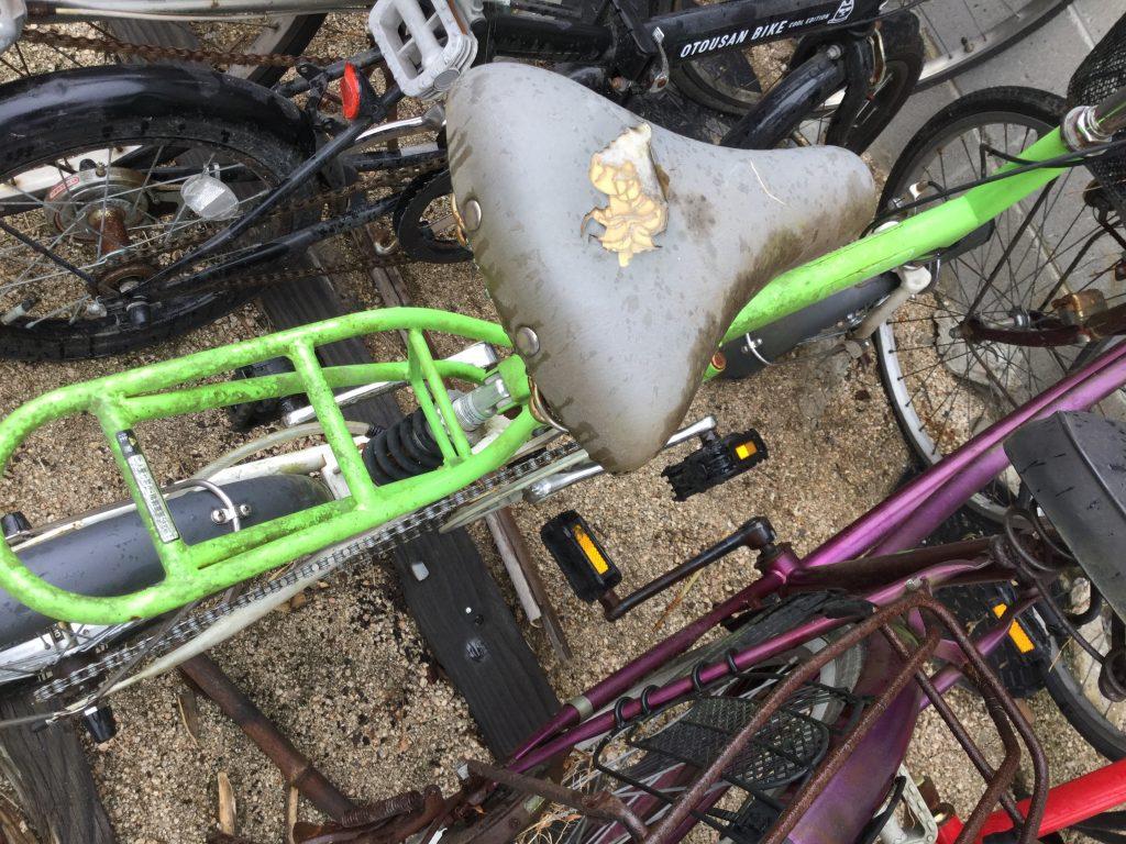 黄緑の自転車です。