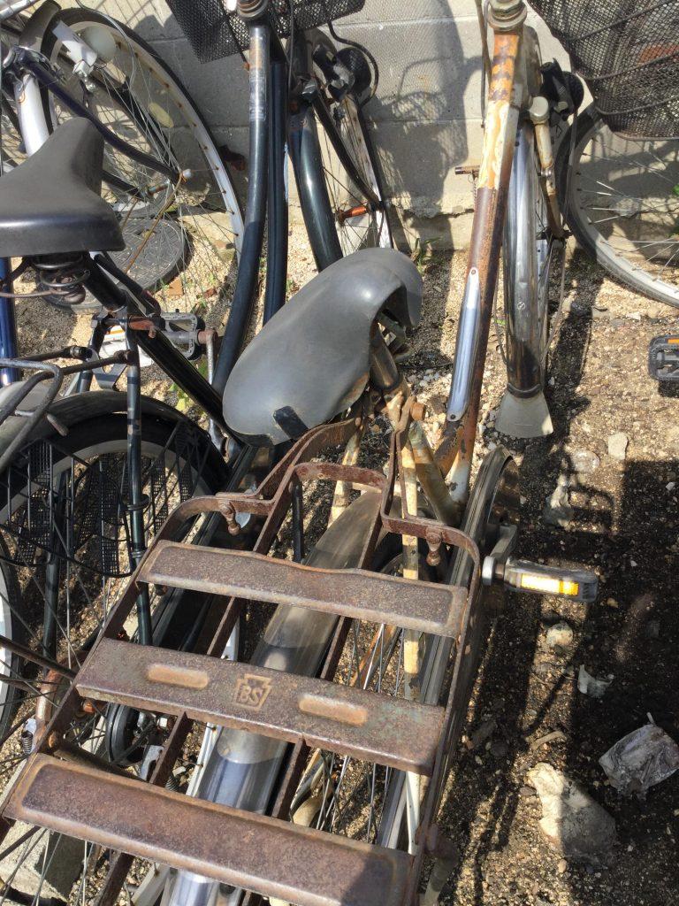 岡山市北区で回収した自転車