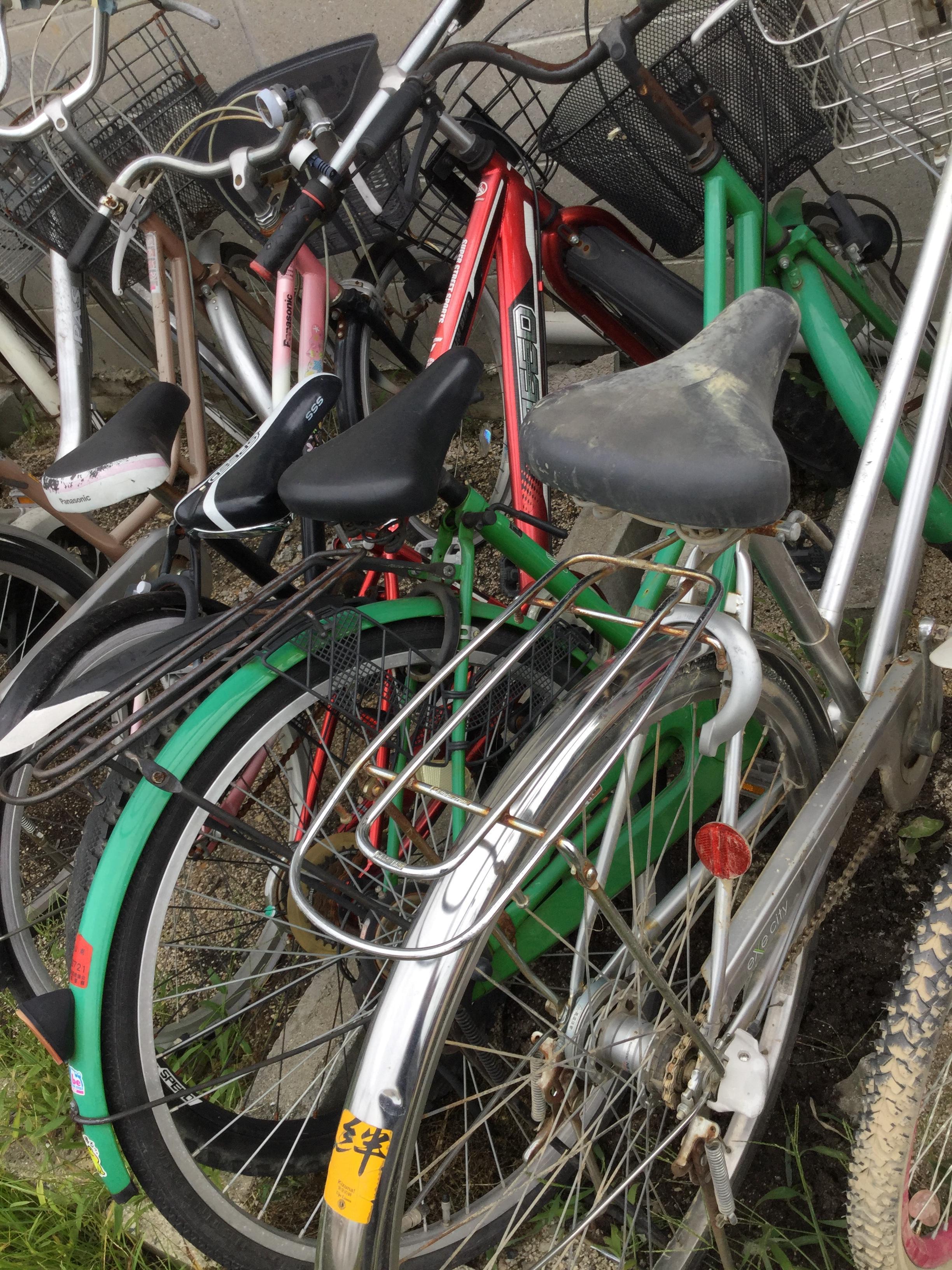 岡山市北区で不用品回収した自転車です。