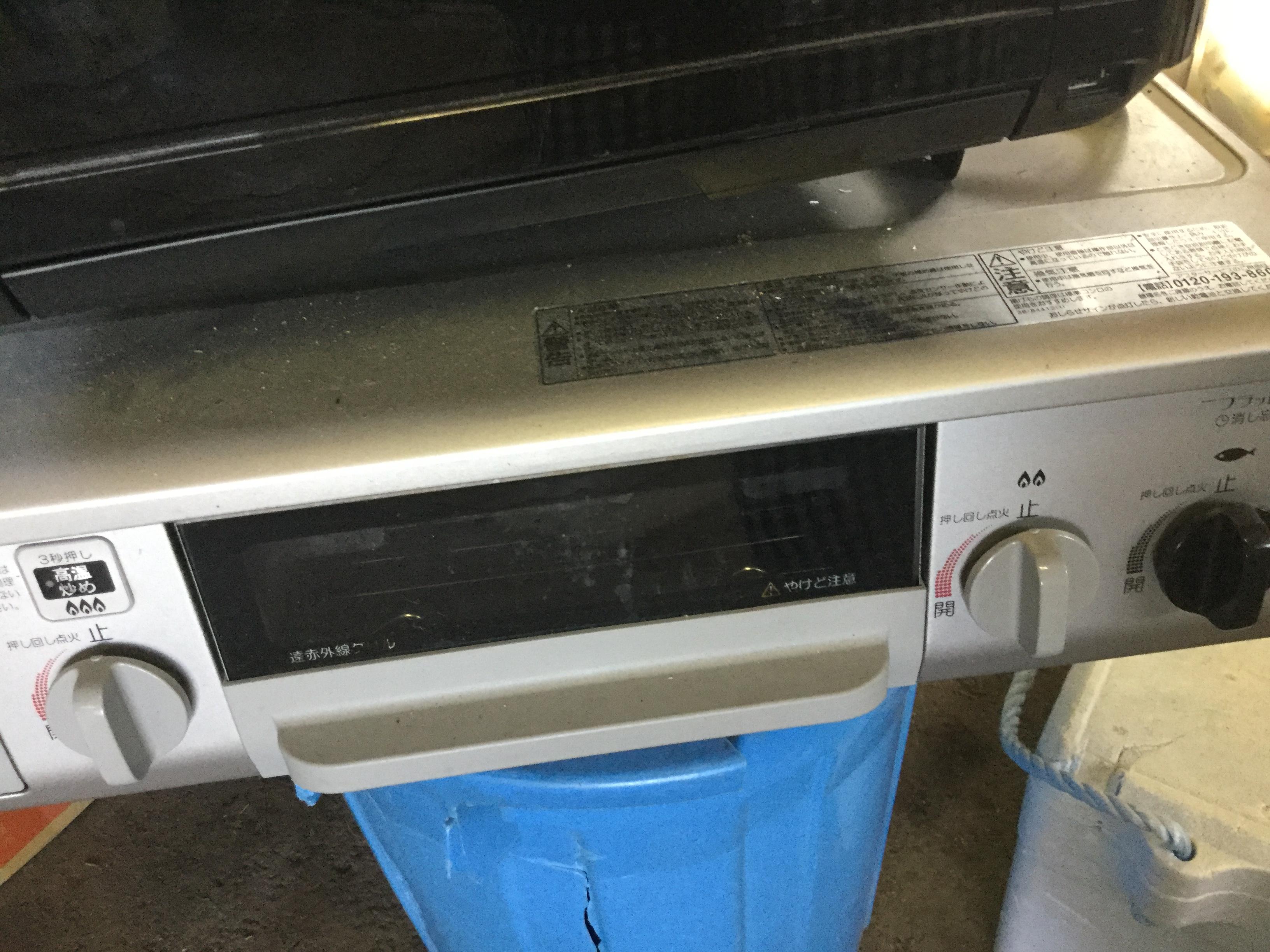 岡山県岡山市南区福田付近で回収した不用品のガスコンロです。
