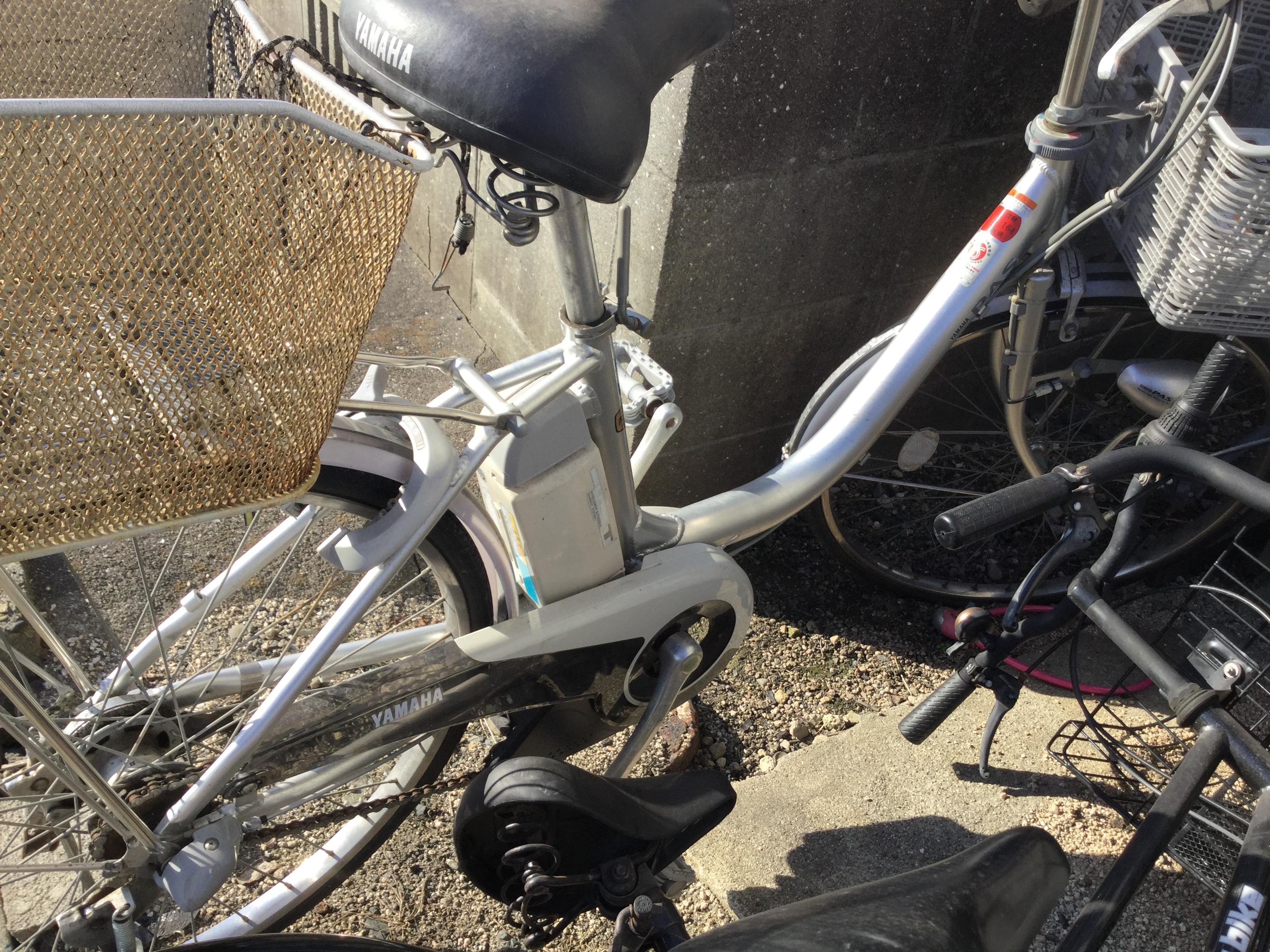 岡山市東区で自転車回収