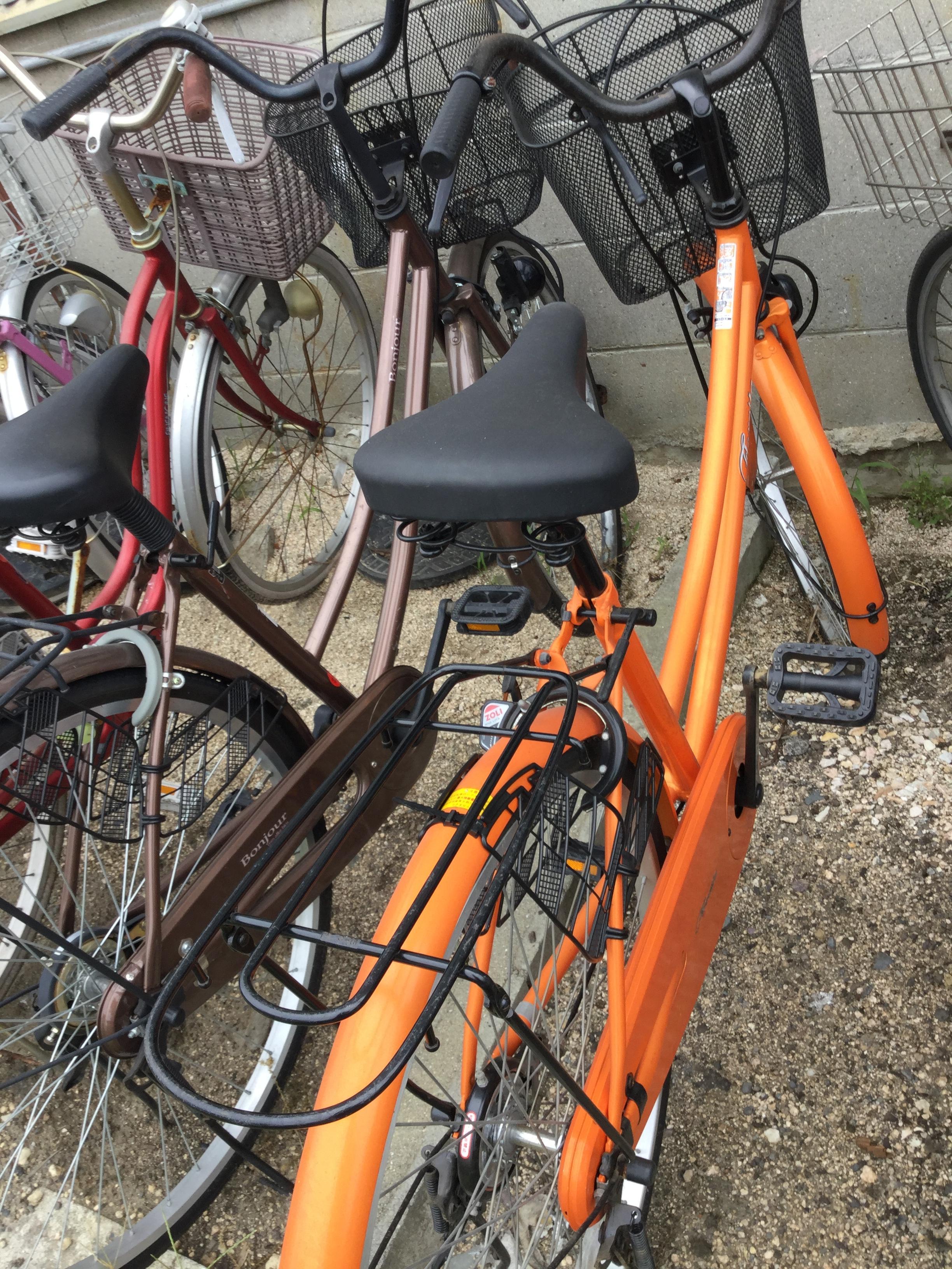 岡山市東区で自転車の回収、処分