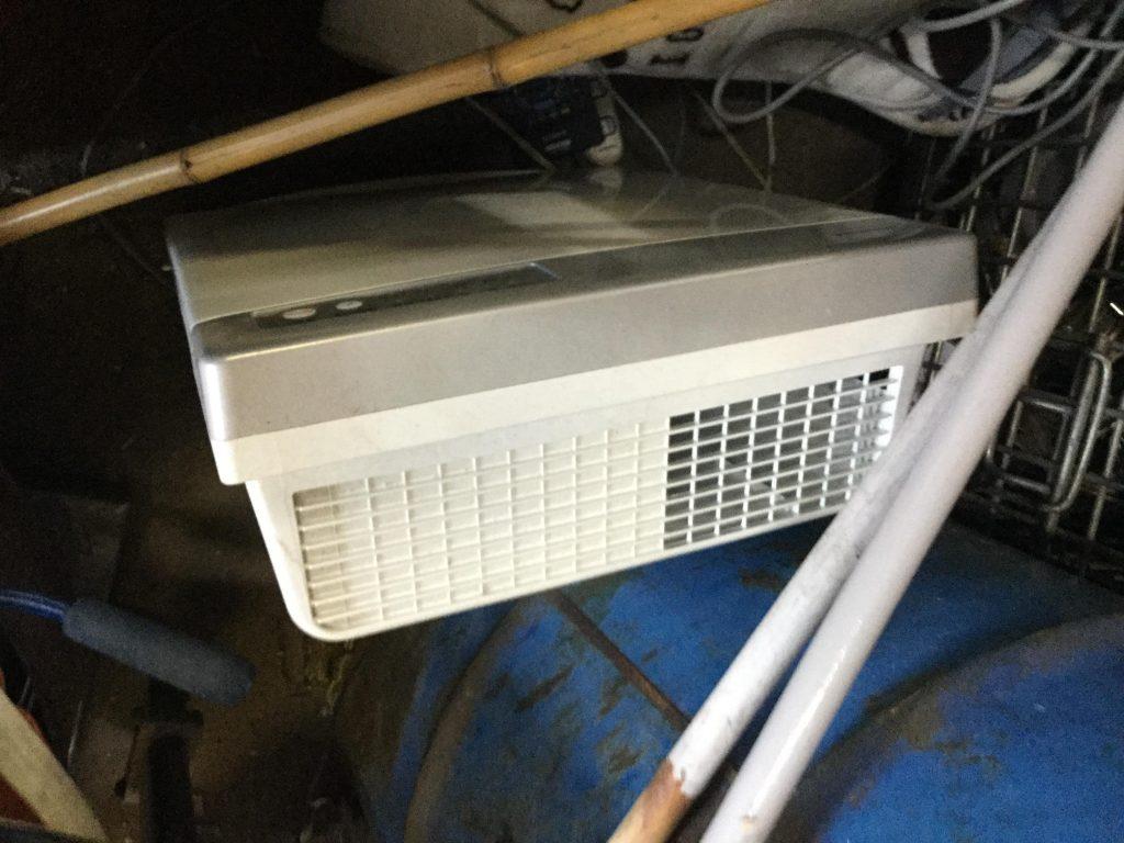 岡山市東区付近で回収させて頂いた空気清浄機