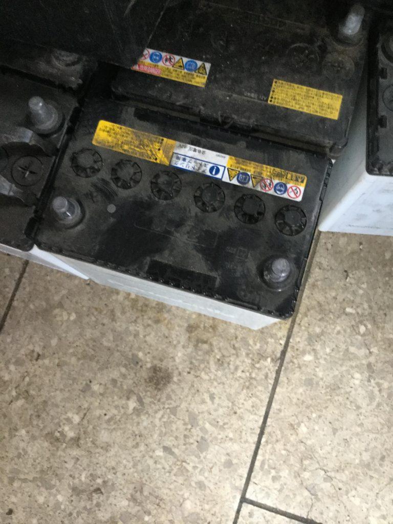 岡山市北区付近で回収させて頂いたバッテリー