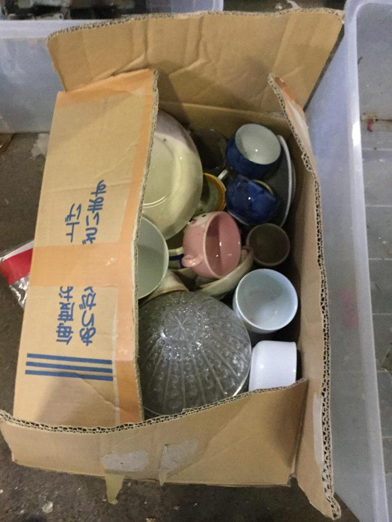 玉野市で不用品の回収をさせて頂いた食器