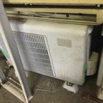岡山県加賀郡吉備中央町で取り外し回収したエアコン