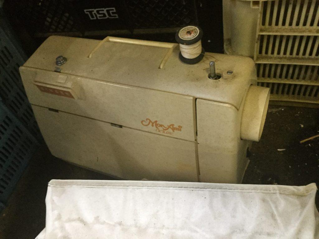 岡山県赤磐市で回収したミシン
