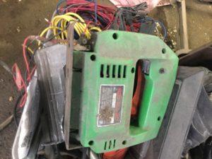 岡山県内で回収した電動工具
