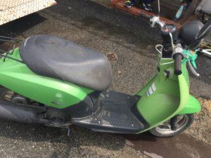 岡山県内で回収した原付バイク