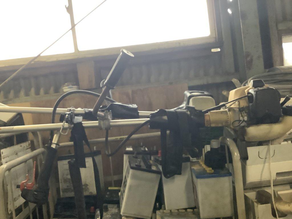岡山県内で回収した草刈機