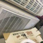 岡山県久米郡久米南町で取り外し回収したエアコン