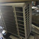 岡山市南区で取り外し回収したエアコン