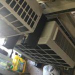 岡山市中区でのエアコン取り外しからエアコン回収、処分