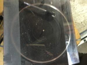 岡山県内で回収したレコードプレーヤー