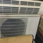 岡山県浅口郡里庄町で回収したエアコン