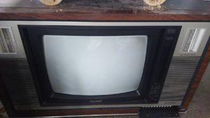 岡山県内で回収したブラウン管テレビ