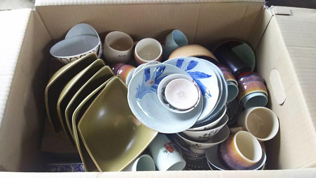 岡山県内で回収した食器