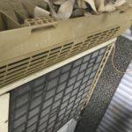 岡山県英田郡西粟倉村で取り外し回収したエアコン