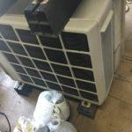 高梁市鍛冶町でエアコン取り外しからエアコン回収、処分