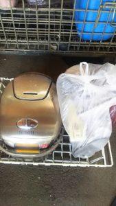岡山県内で回収した炊飯器