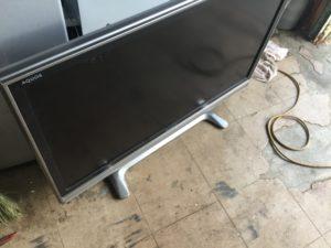 岡山県内で回収した液晶テレビ