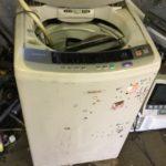 岡山市東区で洗濯機の回収をさせて頂きました