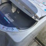 赤磐市で洗濯機の回収をさせて頂きました