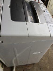 備前市伊部での不用品回収、粗大ゴミの片付け回収した洗濯機