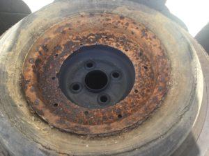 備前市日生町での不用品回収、粗大ゴミの片付け回収したタイヤ