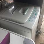 総社市で洗濯機の回収をさせて頂きました
